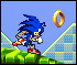Sonic the Hedgehog :: Run your character through the map in the shortest amount of time.  Collect gold rings.